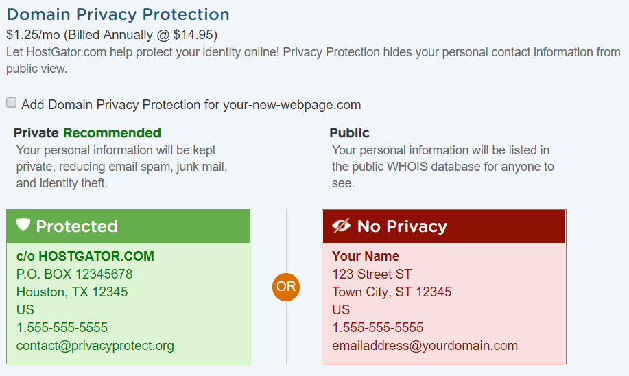how-to-make-a-wordpress-website-Domain-Privacy-Protection