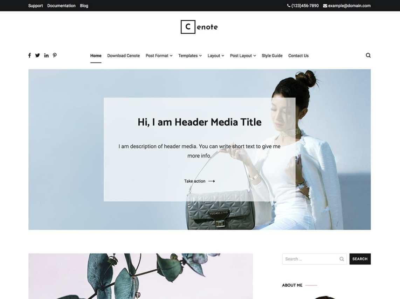 cenote-free-wordpress-blog-themes