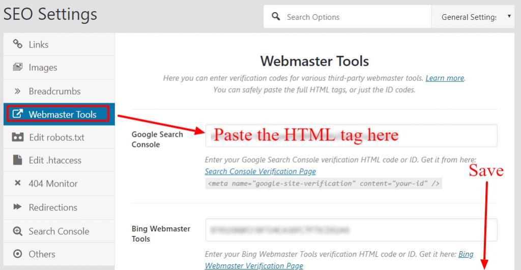 rank-math-webmaster-settings