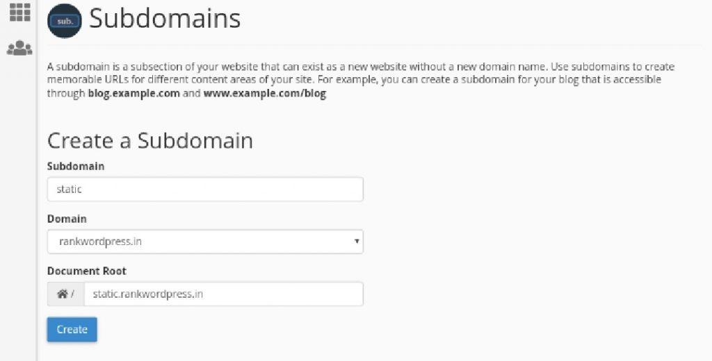 Setup-a-cookieless-domain